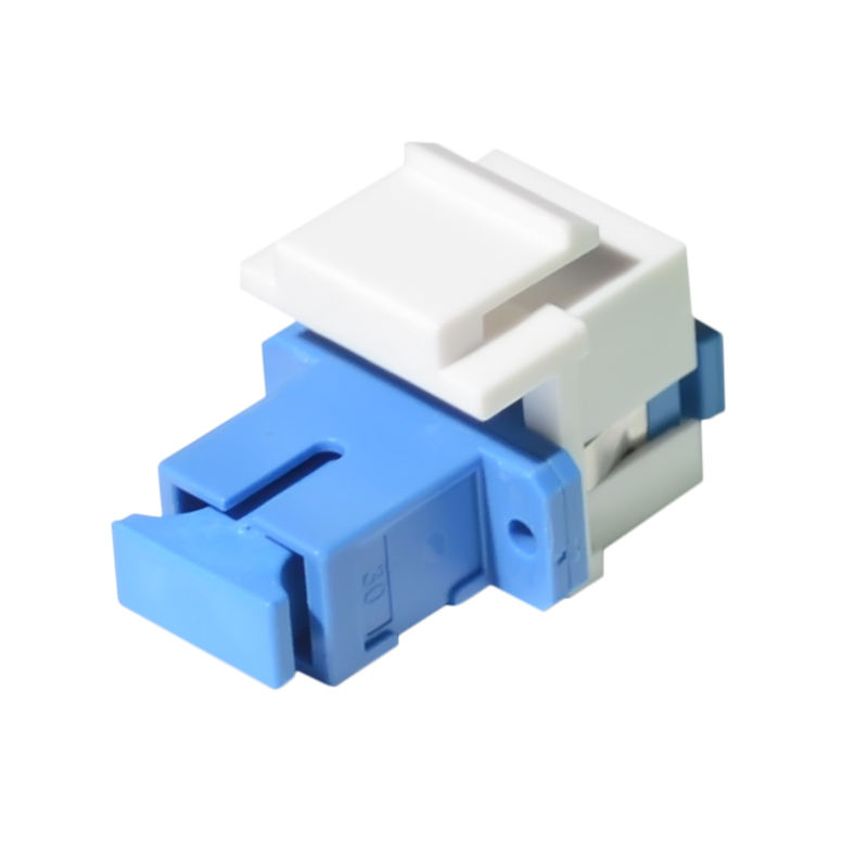Fiber Optic SC LC Fiber Key Connect Telecom Level Duplex Multimode Adapter keystone insert Jack