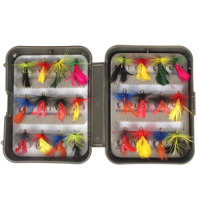 New Assortment 7 Types 24Pcs/Set Fly Fishing Hook Lure Set Fishing Lures Flies