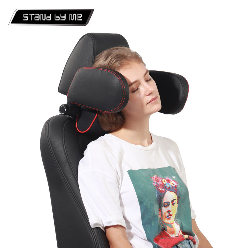 Graphic Customization [ Auto Accessories ] Headrest Adjustable Car Pillow Auto Accessories Patent Interior Adjustable Baby Sleep Safety Memory Foam Neck 3D Universal Seat Side Car Headrest Pillow