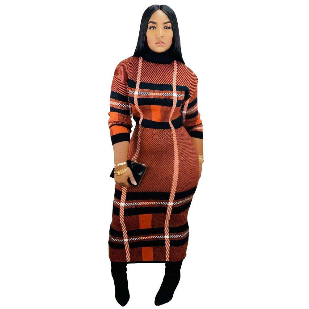 91211-MX75 Plaid Coltrui Winter Jurk Voor Sehe Mode