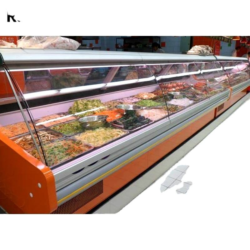commercial meat deli display freezer refrigerated deli cooler showcase