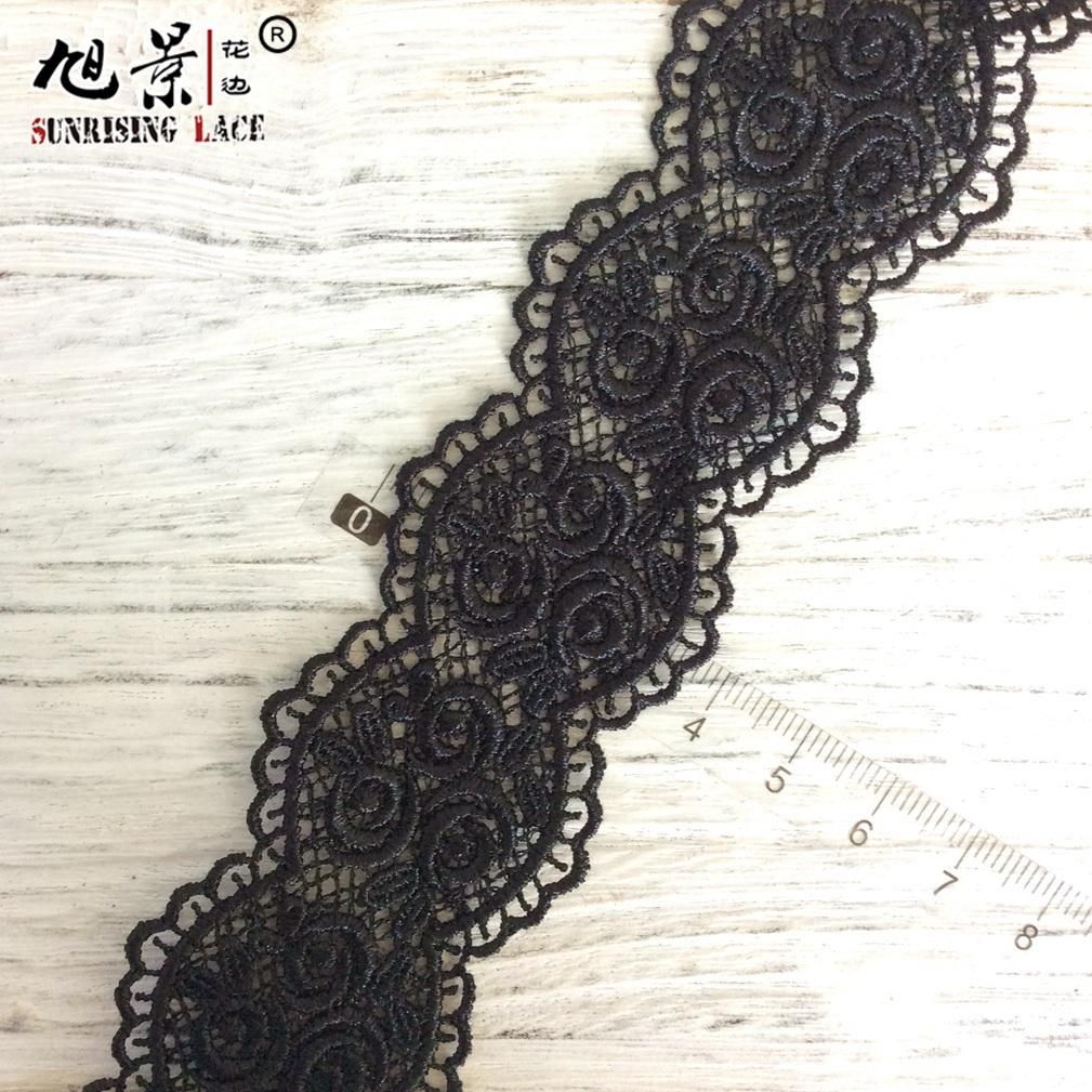 Premium Embroidery Guipure Lace Fabric bty chemical venetian lace textile
