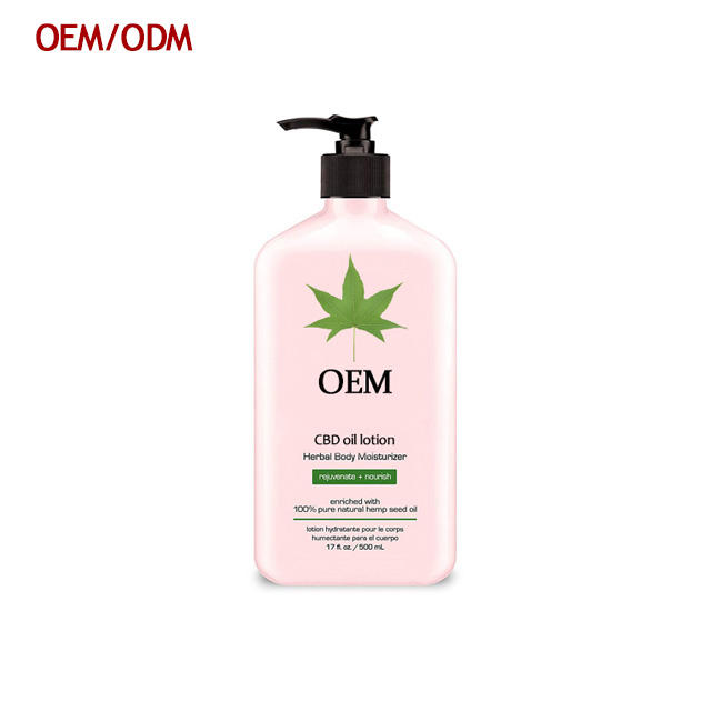 Free Sample Pain Relief Body Whitening Cream For Men Hemp Seed Oil CBD Body Lotion Restoring Smoothing Spa Body Lotion