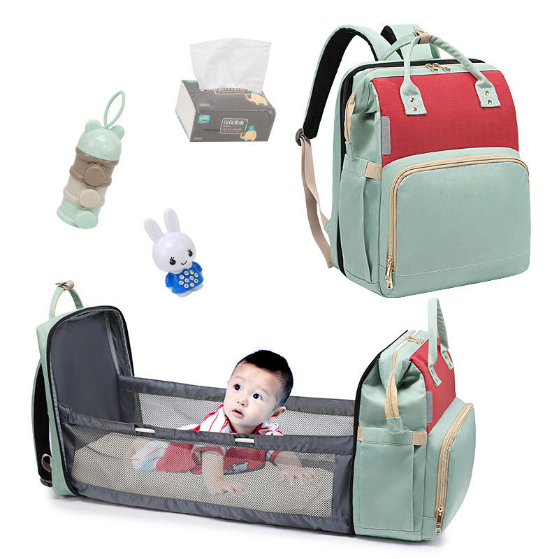 Folding New Portable Baby Travel Crib Bed Carry Cot Shoulder Accessories Bag Mommy Nappy Backpack Travel Nursing Diaper Bag