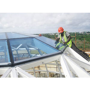 Xuzhou LF Galvanized prefab Q235 or Q345 steel space frame structure dome roof house building glass roofing construction