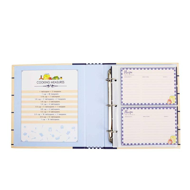 Full Page Recipe Binder Kit with 30 Page Protectors, 12 Color Dividers and 24 Labels