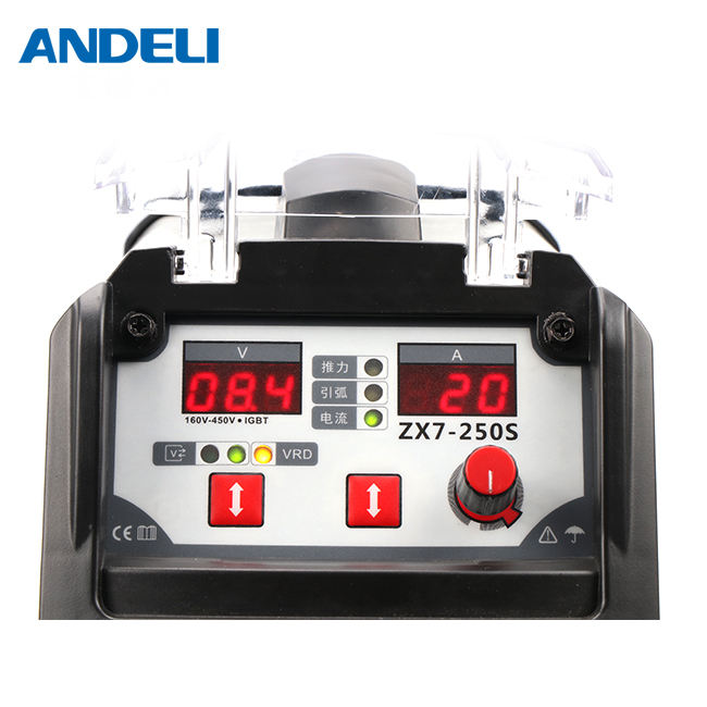 ANDELI 220V smart portable single phase mma spot welding arc welding machine ARC-250T low voltage inverter welding machine