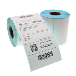 Roll Leeg 4X6 Inch 100X150 Mm Direct Thermisch Papier Barcode Verzending Adres Lijm Label Sticker Voor zebra Dymo Printer