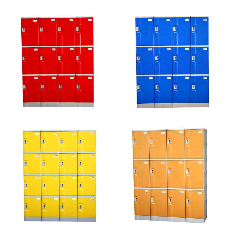 3 compartments each column coin charge locker for public places
