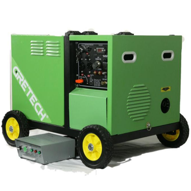 China professional manufacturer Gretech 5kw electric silent small biogas engine generator with good price