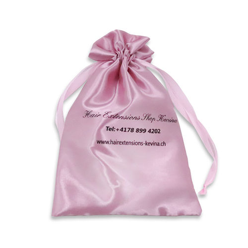 High quality silk jewelry gift dust pouch wig hair Packaging drawstring small satin bag