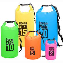 Waterproof Dry Bag, Custom Logo Floating 2L 5L 10L 15L 20L 25L 30L PVC Tarpaulin Duffle Ocean Pack Waterproof Backpack Dry Bag
