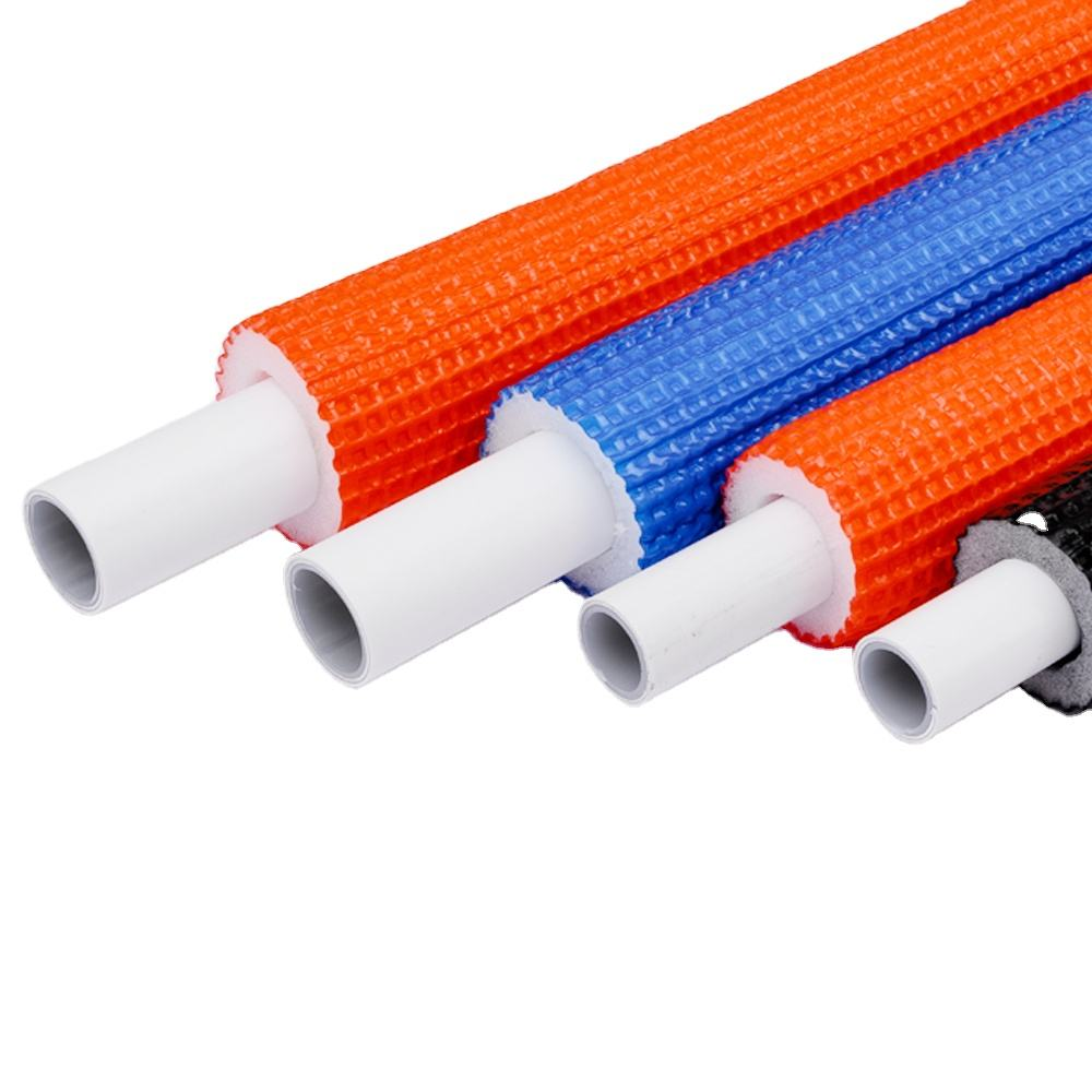 Polyethylene foam pex al pex pipe with insulation for underfloor heating
