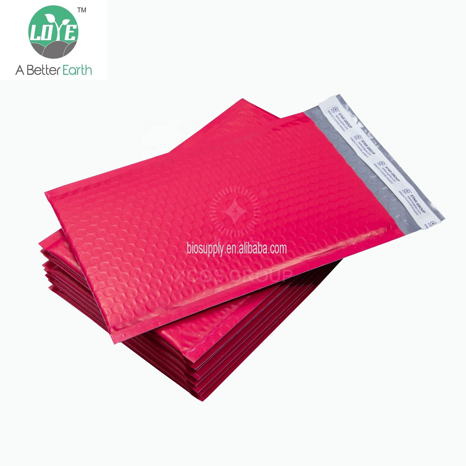 Wholesale Bubble Mailer Pink Padded Envelopes Poly Bubble Mailer Bag