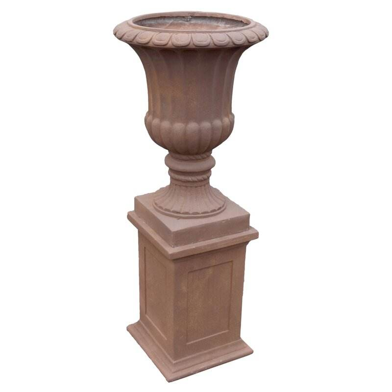 Wholesale Little Italy Fiberglass 2-Piece Garden Flower Urn Planter For Decration