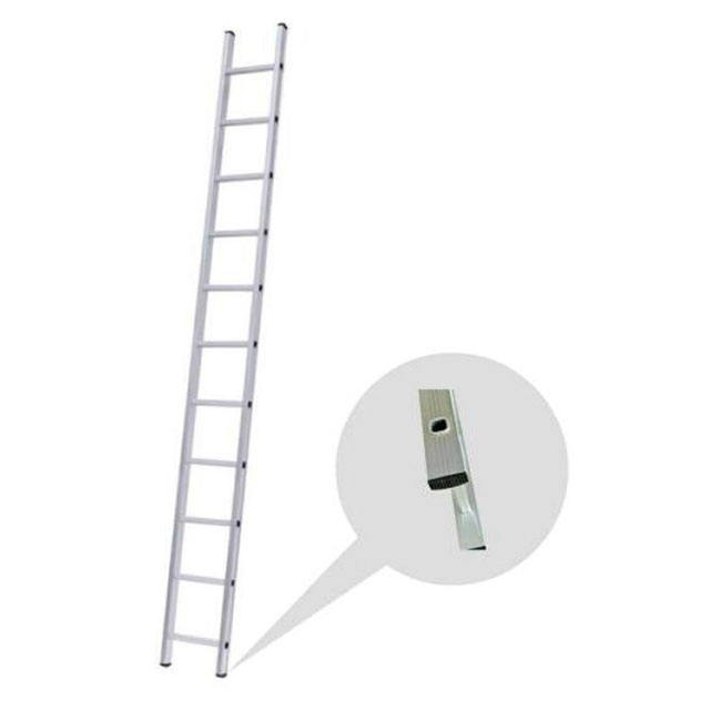 Aluminum industrial single straight step multifunctional ladder