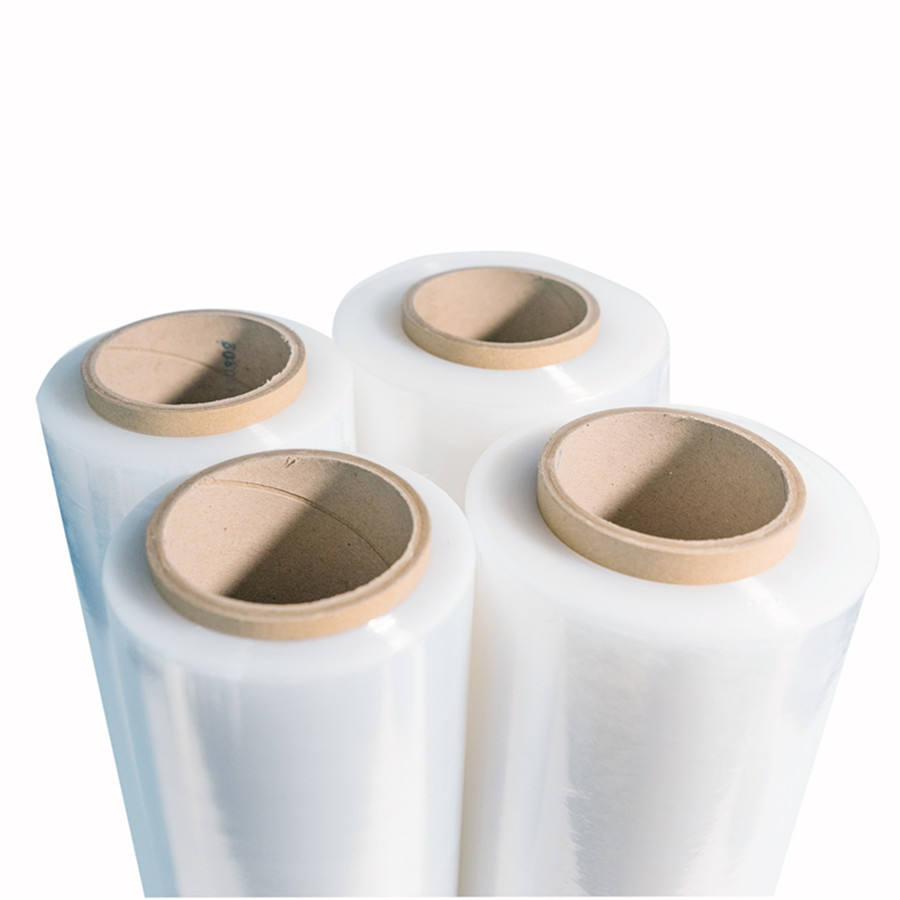 20 Inch 80ga Tangan Stretch Film Roll Plastik Transparan