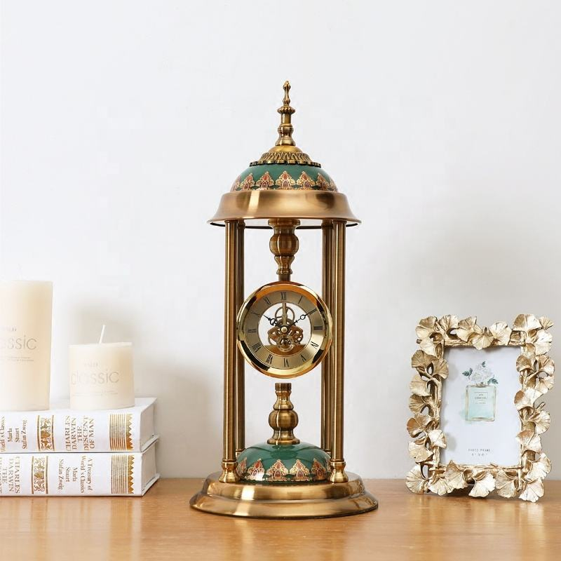 High Grade Classic Jumping Movement Antique Copper Mental Floor Standing Clock
