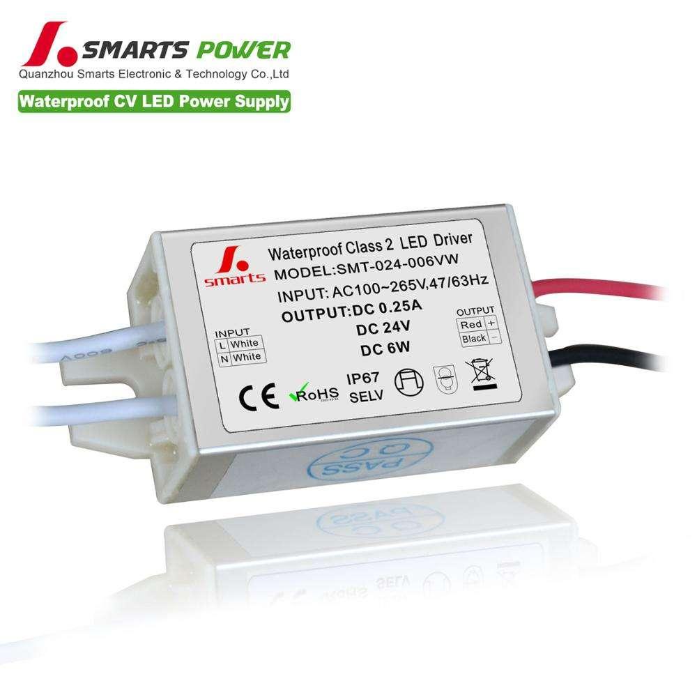 Çin üretimi 24V 6w tek çıkışlı led sürücü güç kaynağı 24v