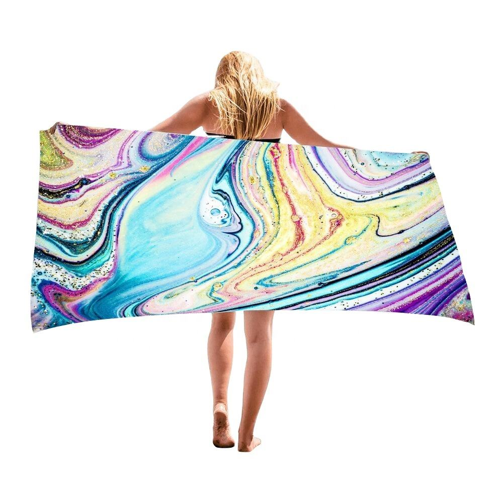 Quick Fast Dry Sand Free Proof personalized designer Microfiber Pool Beach Towel