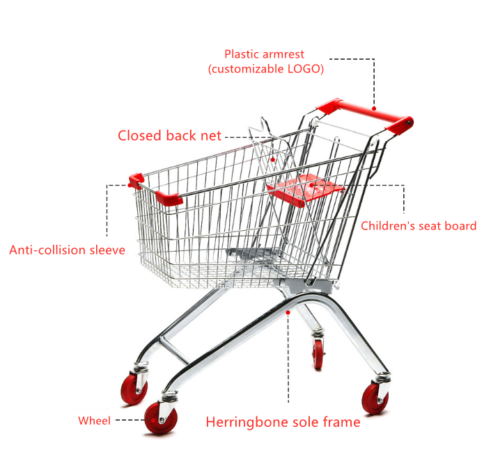 Different styles supermarket shopping trolly grocery shopping cart wire shopping basket