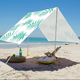 Folding Beach Sunshade Beach Tent New Design Easy To Carry UV 50 Cotton Material Custom Design Pattern Sunshade Folding Beach Tent Canopy With Strong Poles
