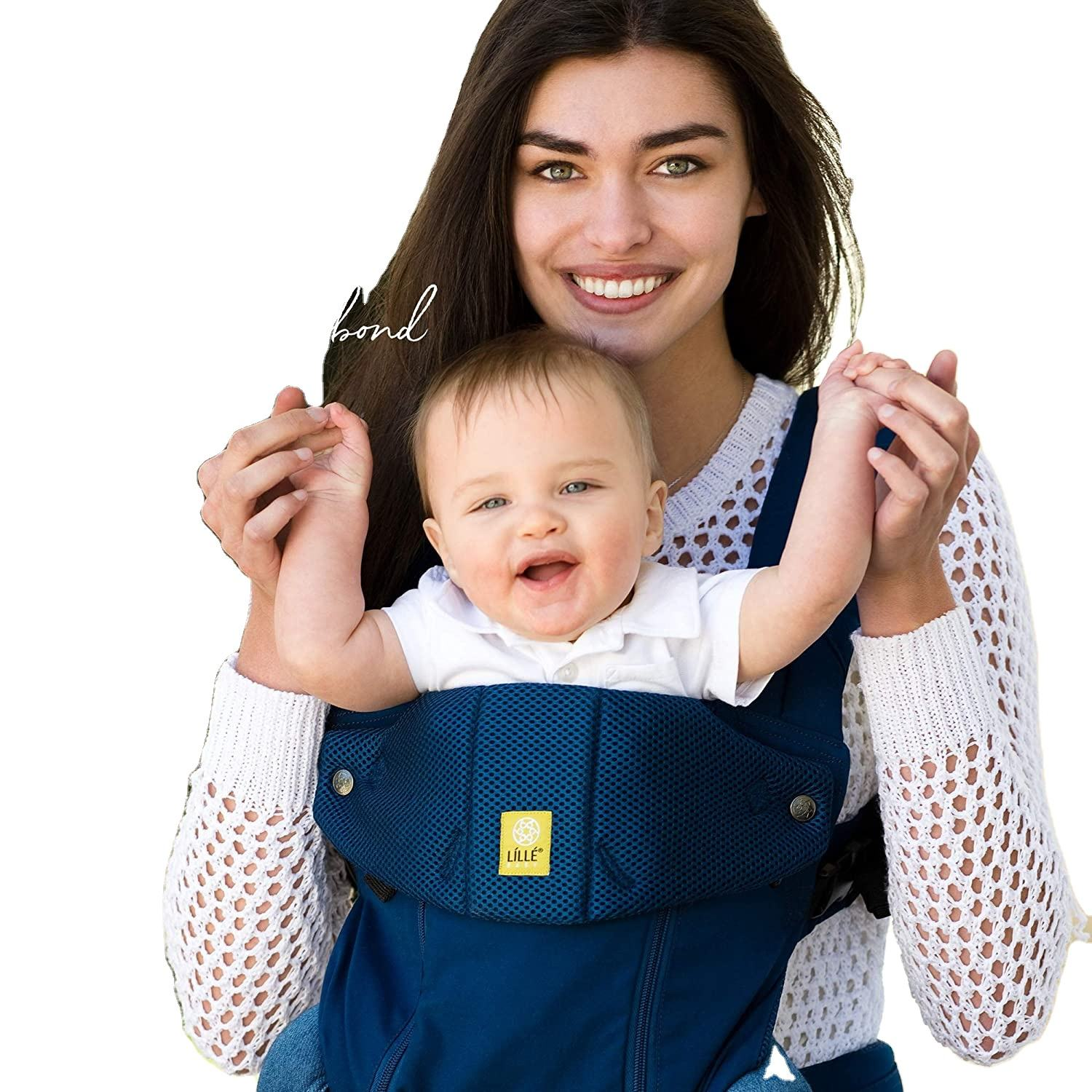 baby Complete All Seasons Six-Position 360 Ergonomic Baby and Child Carrier, Navy/Cotton