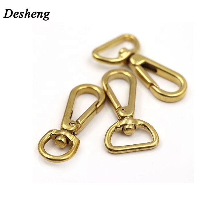 Top Quality Clip Swivel Solid Brass Hardware Snap Hook for Keychain