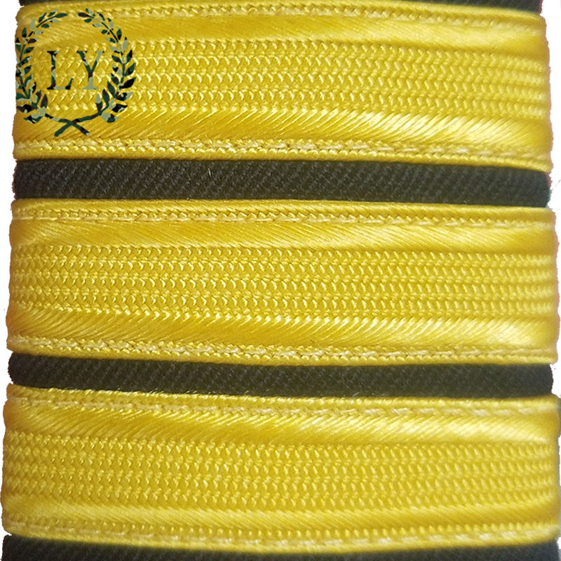 Factory wholesale indian handed silk and thread embroidery ribbon for pilot army shoulder epaulettes