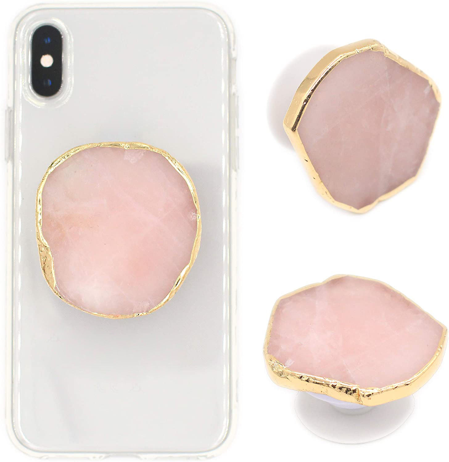 2021 popular INS hot selling agate stone phone stand accessorie mobile phone grip gemstone cell phone holder with factory price