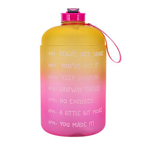 3.78L Large Capacity Water Bottle Motivational Time Marker Fitness Sports Water Bottle for Outdoor Lovers