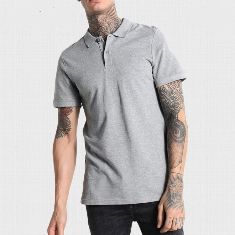 Custom 새 Quick Dry Slim Fit 빛 Grey Melange Polo Shirt