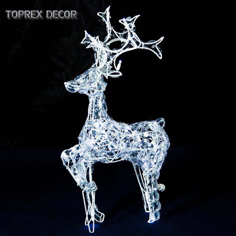 City park shopping mall decor lighted on widely use led acrylic motif deer lights