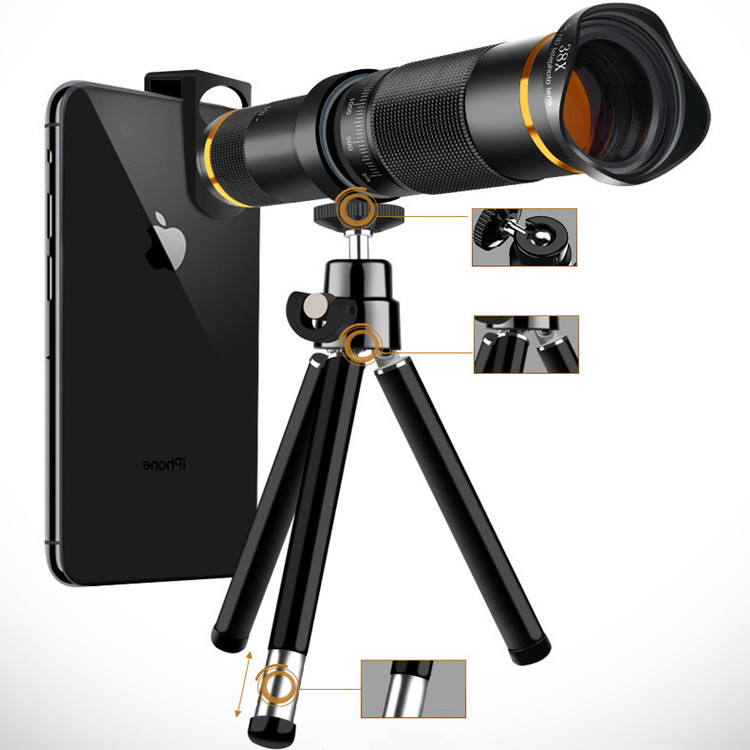Universal 38X Zoom 4K HD Mobile Camera phone Zoom Lens kit Suitable For iPhone Samsung Huawei Oppo Vivo HTC,etc.