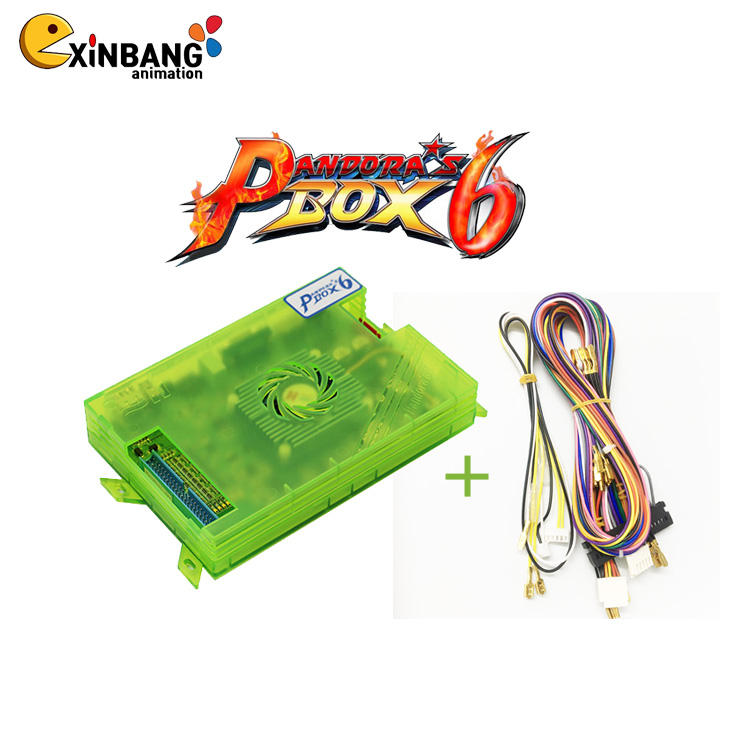 Original Pandora Box 6 1300 in 1 Family arcade game console motherboard support fba mame ps1 games 3d game tekken mortal