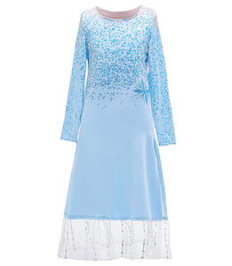 New Style Elsa Frozen Dress Princess 2 Elsa Anna Fashion Dress Cosplay Costume BX1653