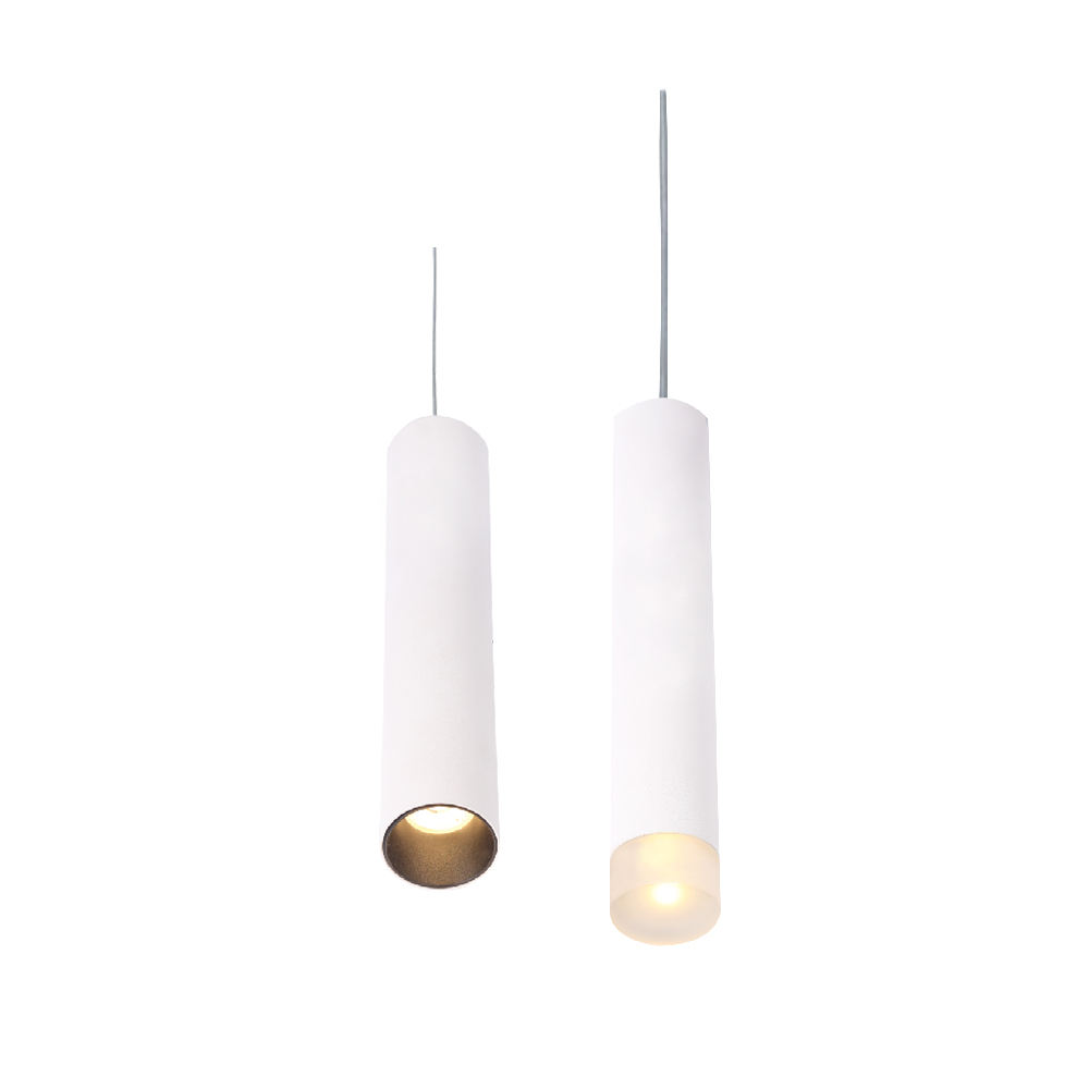 Modern Residential Acrylic cup and anti-glare reflector IP20 Tube LED Pendant Light