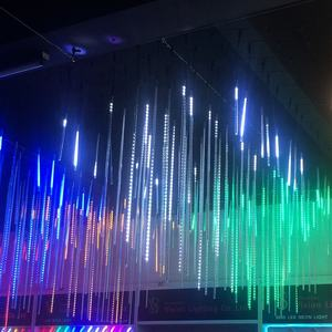 Hot sale nightclub disco decorative 3d led tube stick meteor shower rain string lights