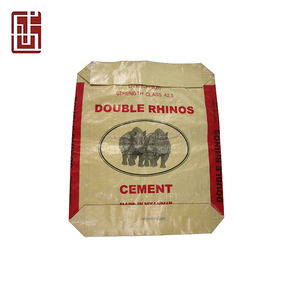 Recyclable 25kg 50kg cement bag price/polypropylene 50kg cement bag price with kraft paper