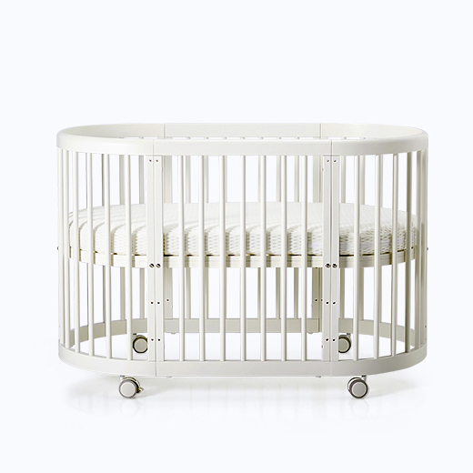 Multi-functional wood baby crib kids beds children table and chair mobile convertible wooden round baby bed