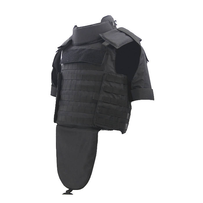 Military PE bulletproof jacket with trauma pad