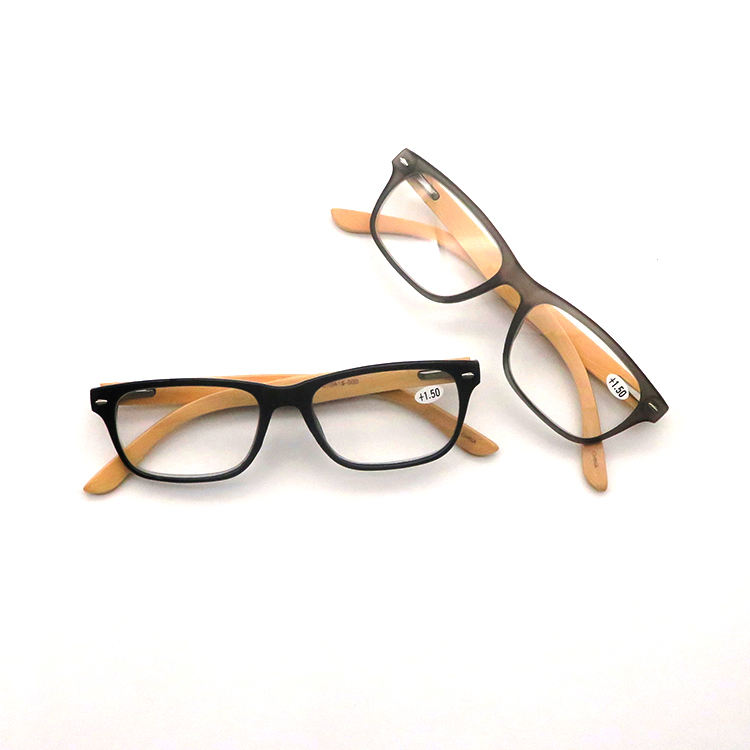 Designer Optical Glasses Fashionable Shape Match All Face Bamboo Temple Optical Eye Frame Reading Glasses