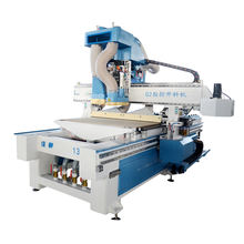 Jinan 1325 atc cnc nesting wood cutting machine woodworking with loading and unloading system for wooden furniture