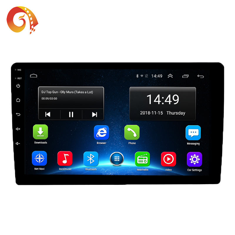 Factory supply 10 inch car radio Android GPS Navigation Car Android 8.1 Wifi BT radio stereo car MP5 player Csr display