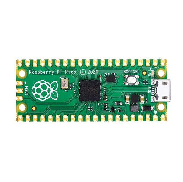 Raspberry Pi Pico Development Board Using RP2040 Dual-Core Arm Cortex-M0+ Processor With 264KB RAM