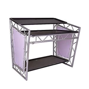 Good market movable mobile portable aluminum bar counter table dj booth Dj table truss truss system for sale