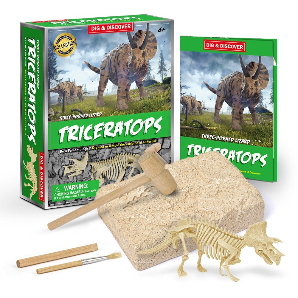 Dinosaur Fossil Excavation Kits Dinosaur Fossil Skeleton Excavation Dig Dino Up Kit DIY Assembly Educational Kids Science Toys