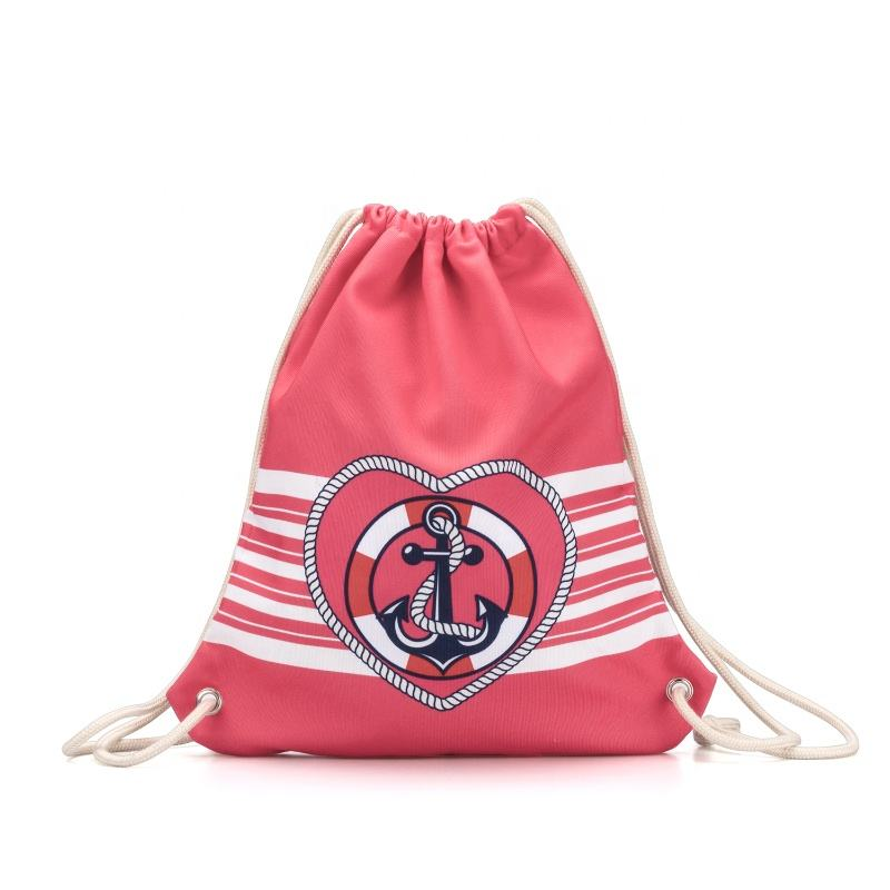 Steamed Pattern Two Drawstring Backpack Sports Athletic Gym Cinch Sack String Storage Bags for Hiking Travel Beach