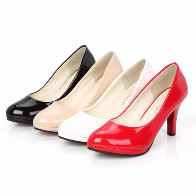 Hot selling trendy style women shoes round toe elegant formal lady high-heeled shoes