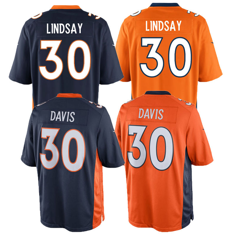 Mens Hoge Kwaliteit 30 <span class=keywords><strong>Lindsay</strong></span> 58 Von Miller 55 Bradley Chubb American Football Jersey
